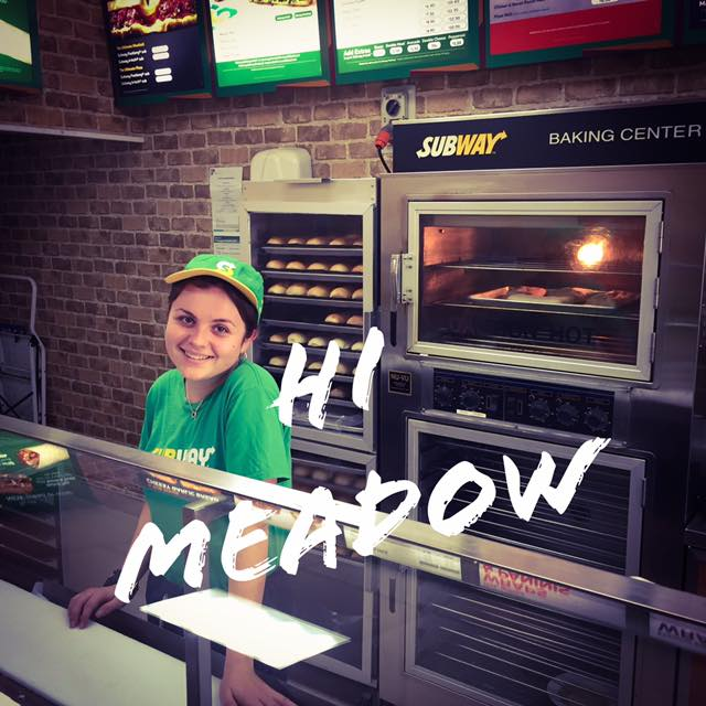 Say hi to Meadow! She works at Subway New Zealand